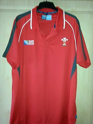 NEW Wales RWC 2015 Rugby Polo Shirt 2XL WITHOUT TAGS