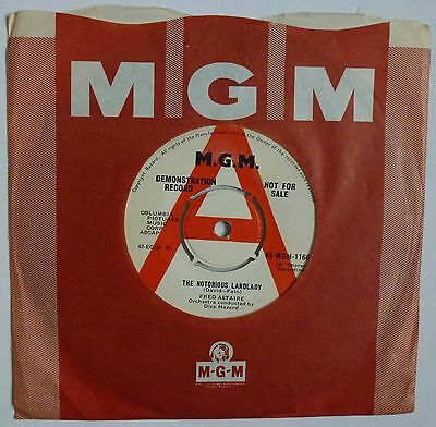 "Fred Astaire - The Notorious Landlady - 7"" Demo Single 1962 MGM-1166 Near Mint"