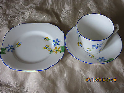 Melba Ware Cup, Saucer And Side Plate - Daisies Design - Excellent Condition