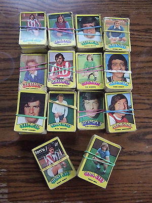 714 A&BC Gum Football Cards 1974 - Orange/Red Backs