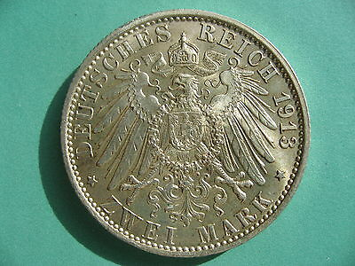 Germany - Prussia, 2 Marks 1913A. High Grade.