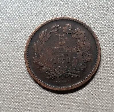 5 Centimes 1870 Luxembourg