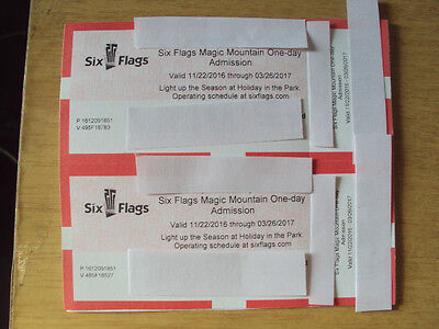 A Pair of Tickets to Six Flags Magic Mountain