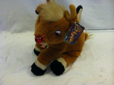 Rudolph Red Nose Reindeer Plush Stuffed Christmas Toy 1999 Jc Penny