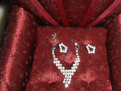 Scintillating Rhinestone Necklace and Earring Set for Barbie, Fashion Royalty