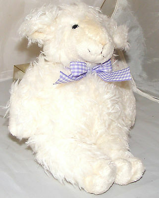 Very Soft Woolly Lamb with Bow Soft Toy