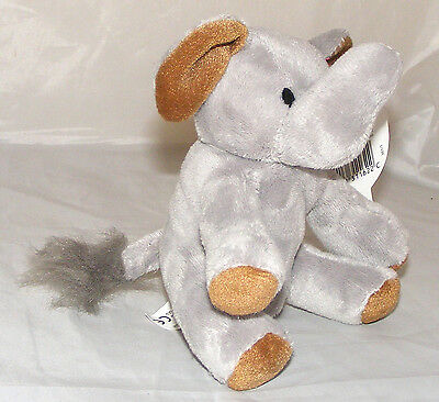 Grey Elephant with Brown Ears - Soft Toy
