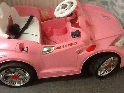 girls pink 12v electric/remote control ride on car