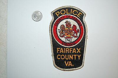 Old Fairfax County Virginia Police Patch