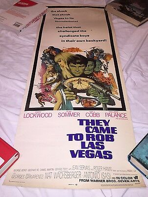 "THEY CAME TO ROB LAS VEGAS 1968 14x 36"" original rolled US INSERT POSTER"