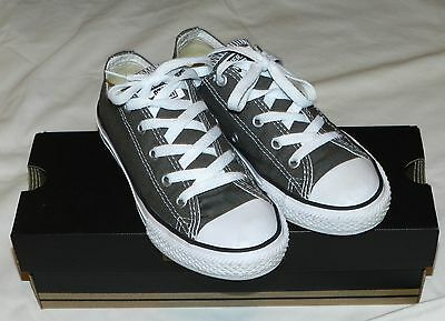 CONVERSE CHUCK TAYLOR ALL STAR CHARCOAL LOW TOP YOUTH/KIDS SHOES 3J794 Sz 1