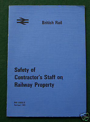 British Railways Safety of Contractor's booklet BR 12323/3