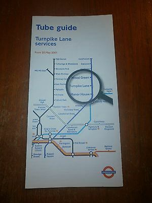 London Transport Underground Map & Guide-Turnpike Lane, May 2001