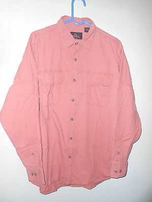 """Red Head vintage long sleeve brick red cotton shirt L Large 50"""""""