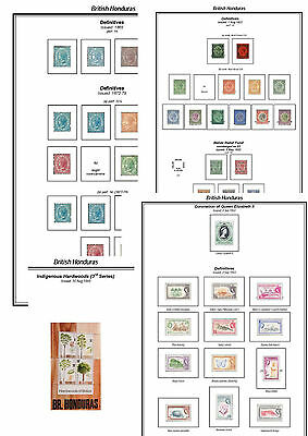 Print a Brit Honduras Album Fully Annotated & Completely Colour Illustrated