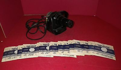 Vintage Sawyers Viewmaster bakelite? junior projector,with 45 scenic view reels