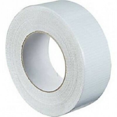 "Strong White Duck Duct Cloth Waterproof Gaffer Gaffa Tape 2"" 48mm X 50m"