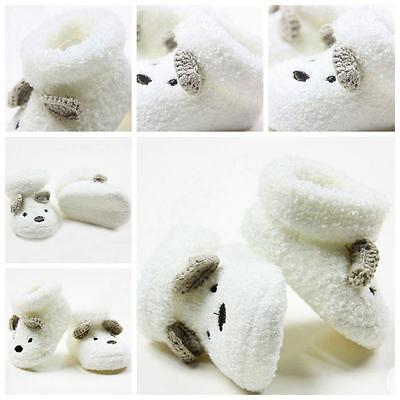 Soft Cotton Warm Bear Shoes Baby Socks Hosiery Anti Slip for 0 -12 Month
