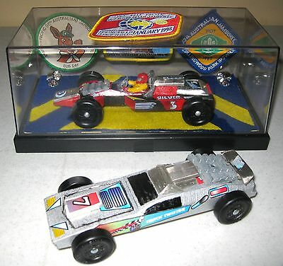 Custom Pinewood Derby Cars BSA Boy Scouts Race Cars with Case and Patches LOOK