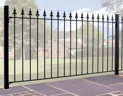 900mm MEDIUM SPEAR TOP WROUGHT IRON METAL FENCING/RAILINGS PANEL