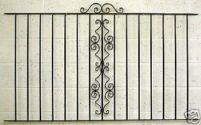 OXFORD WROUGHT IRON METAL FENCING/RAILINGS PANEL RAILING oxh
