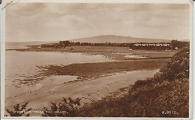 Early Postcard - Powfoot From The Braes - Dumfriesshire  -Real Photo