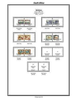 Print a South Africa Stamp Album Fully Annotated & ExtensivelyColour Illustrated