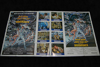 Moonraker - International US One Stop Poster - Not Quad - Roger Moore Jaws