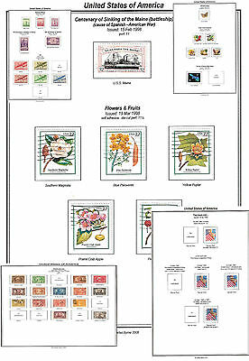 Print a USA Stamp Album Fully Annotated & Extensively Colour Illustrated