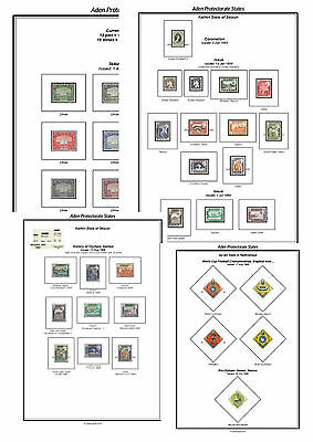 Print an Aden Stamp Album Fully Annotated & Completely Colour Illustrated
