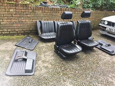 BMW E30 Touring Black Leather Comfort Interior & Door Cards 3 Series 1989-1994