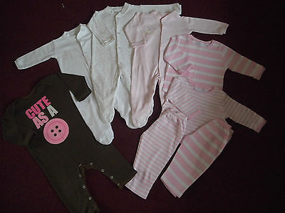Baby Girls Sleepsuits/PJ Bundle/6-12 months/Great Condition