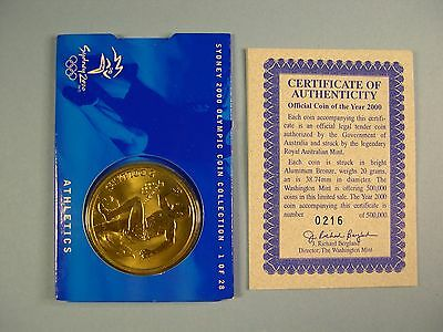 2000 Olympics Sydney, Australia $5 Uncirculated Coin FREE SHIPPING in U.S.