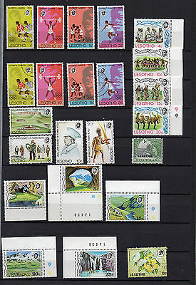 LESOTHO 44 DIFFERENT MINT NEVER HINGED (40) and USED (4) STAMPS