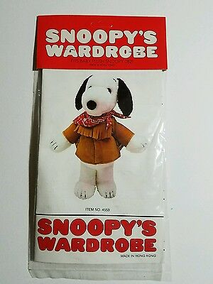 "(Peanuts) Snoopy's Wardrobe Fits 11"" Baby Plush FRONTIER NIP 1981"