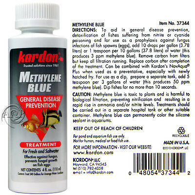 Methylene Blue by Kordon;  for Fish Baths, Fungal, Parasite, some bacteria
