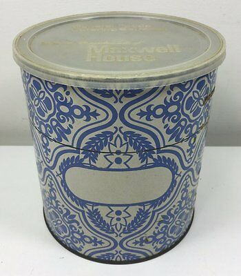 Vintage Blue & White Maxwell House Coffee Storage Tin  - Complimentary