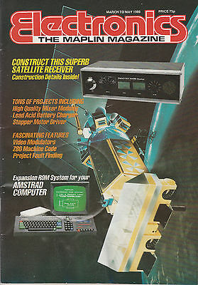 ELECTRONICS THE MAPLIN MAG MARCH - MAY '86 - CONSTRUCT SATELITE RECEIVER etc.