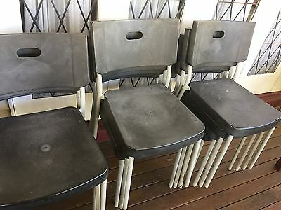 16 Black cafe chairs