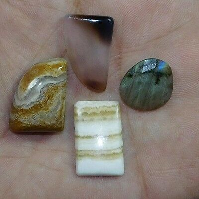 46.05Cts 100% NATURAL TOP MIX STONE Fancy MIX LOOSE CAB GEMSTONE PH380