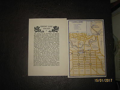 Orient Lines. Port Guide And Map Adelaide