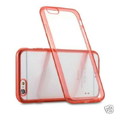 iPhone 6 Plus Clear Cherry Red Silicone Gel Silicone Case - Ex Display by Z-TECH