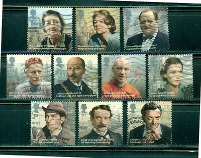 Great Britain 2014 Remarkable Lives Used set of 10