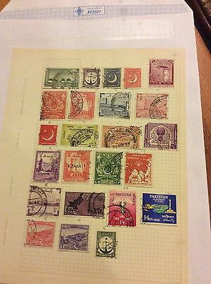 Old Stamps Pakistan On Stock Sheet Hinged