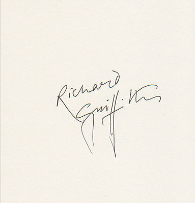 Richard Griffiths Harry Potter autograph