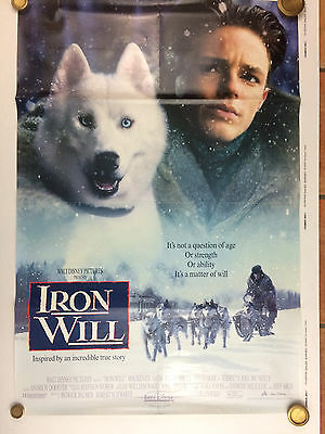 IRON WILL 1994 Original Double Sided Movie Poster 27 x 40 Inches Walt Disney B26