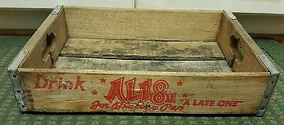 Vintage ALE 8 1 A Late One Drink Wood Crate Kentucky