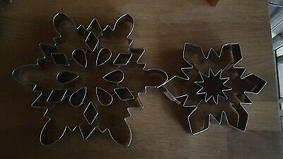 New Williams Sonoma lot of Gorgeous Christmas Snowflake Cookie Cutters!!