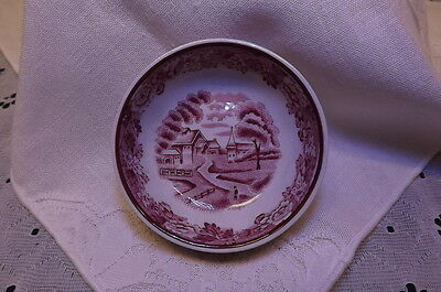 Vintage Enoch Woods & Sons English Scenery Open Salt Dish From England Rare