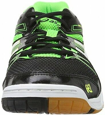 Asics Men?s Gel-Rocket 7 Volleyball Shoes, Multicolor (Black/Green 9.5 UK